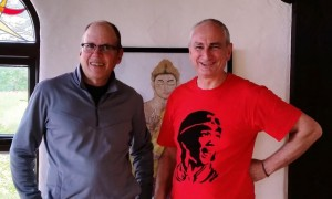Vince Cullen and Kevin Griffin at Sunyata Buddhist Centre