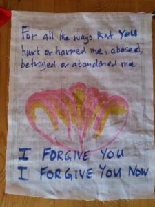Hungry Ghost Retreats - I Forgive You Prayer-flag