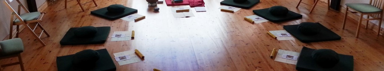 Hungry Ghost Retreat in the meditation room at Sunyata Buddhist Centre