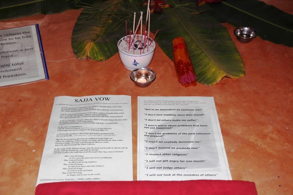 Optional Sajja [intention/aspiration/commitment/vow]