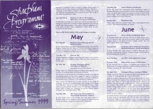 Vince Cullen - Hungry Ghost Retreats - Sharpham Programme Spring-Summer 1999