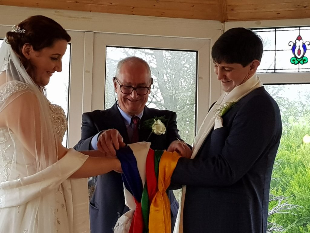 Tying the Knot in at a Buddhist Wedding Blessing with Vince Cullen celebrant of Nalagiri House