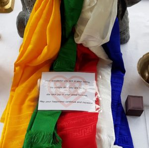 Blessing Scarfs for Buddhist Wedding Celebration (Vince Cullen - Wedding Celebrant) - Nalagiri Mindfulness - Hungry Ghost Retreats