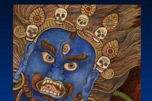Blue Buddha Image